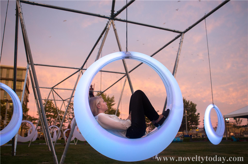 Led Swing Chair 216 151 H42cm Novelty Lighting Productions